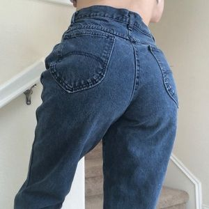 Vintage Chic high rise mom jeans blue 27/28